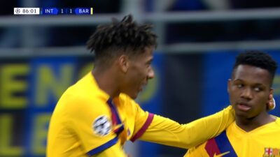 UCL-Group-F-6 Inter Milan 1 vs 2 Barcelona 10-12-2019